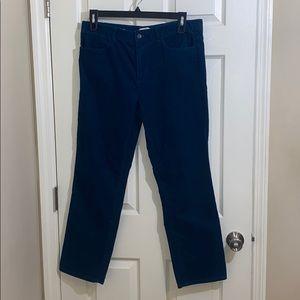 Talbots Teal Heritage Corduroy Pants